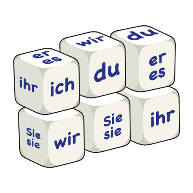 German Pronouns (pack of 6 dice)