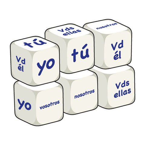 Spanish Pronouns (pack of 6 dice)