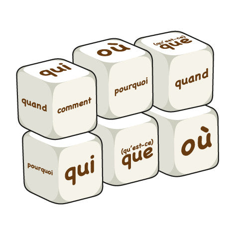 French Question words (pack of 6 dice)