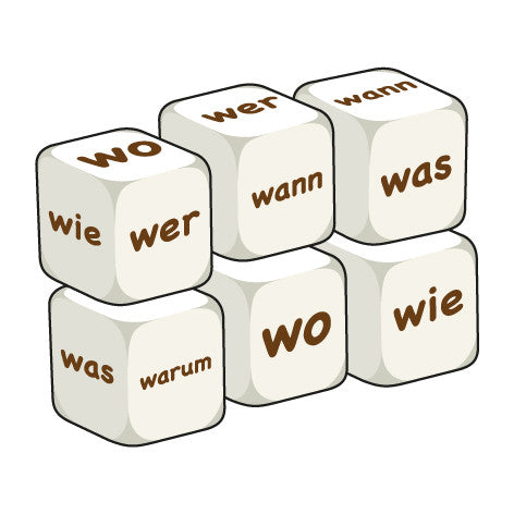 German Question words (pack of 6 dice)