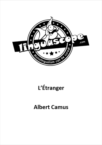 """L'Étranger"" by Albert Camus (Downloadable eBook)"