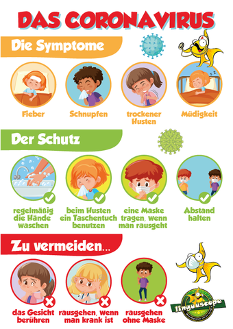 """Das Coronavirus"" poster (downloadable product)"