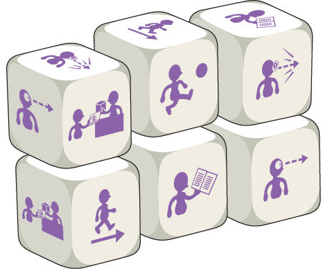 Talking Dice Action Verbs (set of 6 identical dice)
