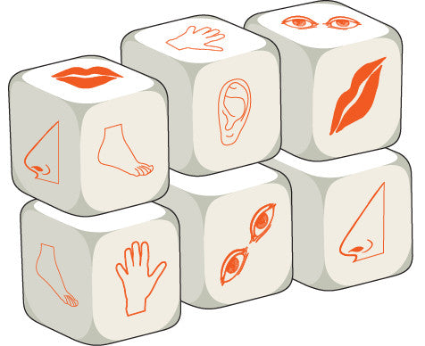 Talking Dice Body Parts (set of 6 identical dice)
