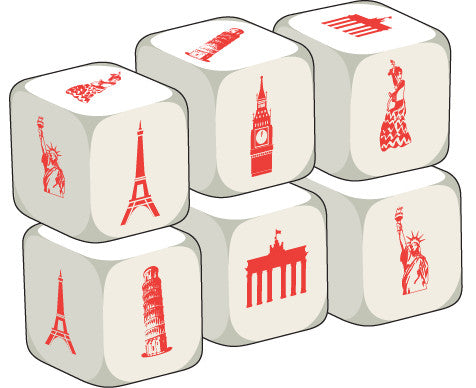 Talking Dice Countries & Nationalities (set of 6 identical dice)