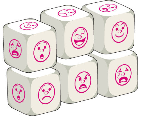 Talking Dice Add-ons: Emotions (set of 6 identical dice)