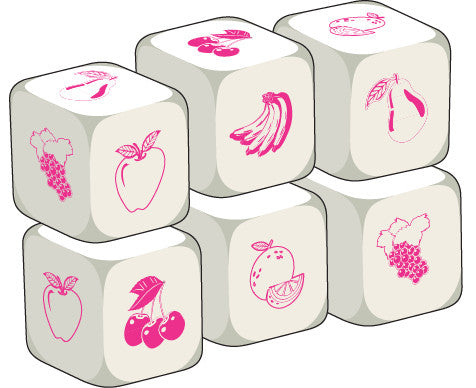 Talking Dice Fruit (set of 6 identical dice)
