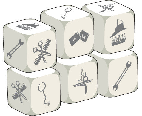 Talking Dice Occupations (set of 6 identical dice)