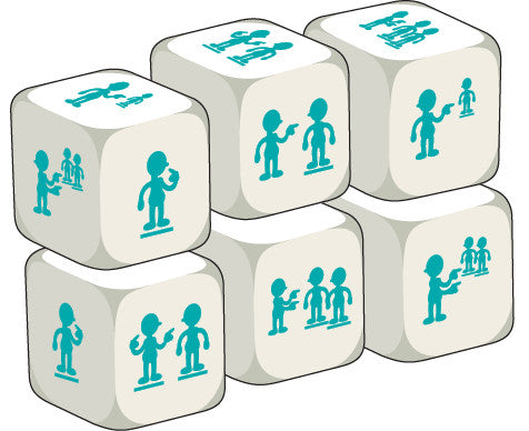 Talking Dice Add-ons: Pronouns (set of 6 identical dice)