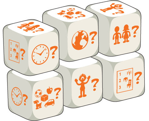 Talking Dice Question Words (set of 6 identical dice)