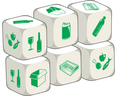 Talking Dice Recycling (set of 6 identical dice)