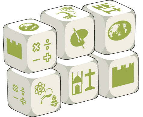Talking Dice School Subject (set of 6 identical dice)