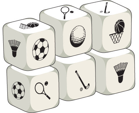 Talking Dice Sport (set of 6 identical dice)