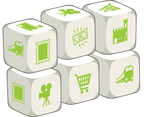 Talking Dice Places in Town (set of 6 identical dice)