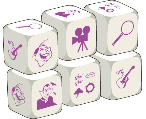Talking Dice TV Programmes (set of 6 identical dice)