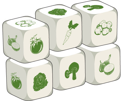 Talking Dice Vegetables (set of 6 identical dice)