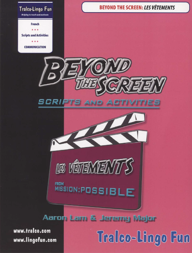 Beyond the Screen - Les vêtements (Downloadable eBook)