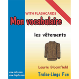 Mon vocabulaire (with flashcards) - Les Vêtements (Downloadable eBook)
