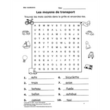 Mon vocabulaire (with flashcards) - Les Moyens de transport (Downloadable eBook)