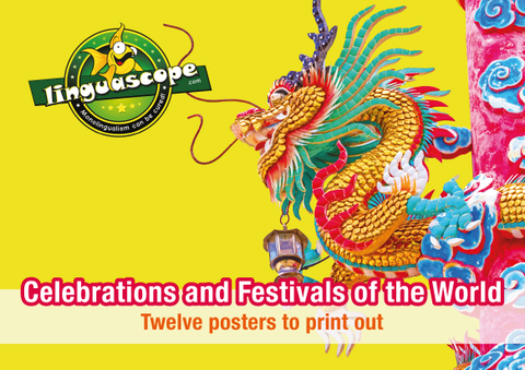 "Pack of 12 printable posters on ""Celebrations and Festivals of the World"" (downloadable product)"