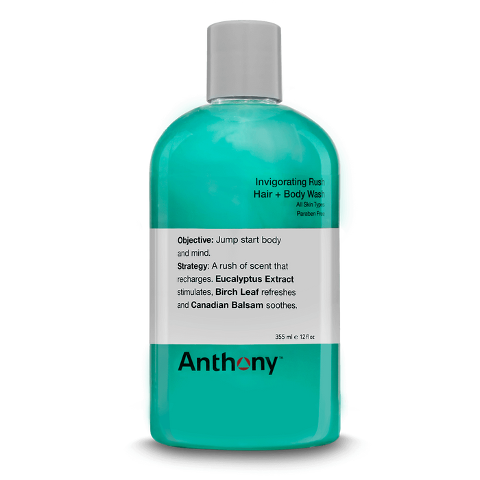 Anthony Invigorating Rush Hair & Body Wash - Stubbles Australia