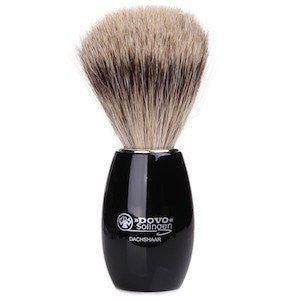 Dovo Acrylic Black Pure Badger Brush - Stubbles Australia