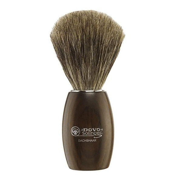 Dovo Grenadille Wood Pure Badger Brush - Stubbles Australia