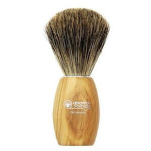 Dovo Olive Wood Pure Badger Brush - Stubbles Australia