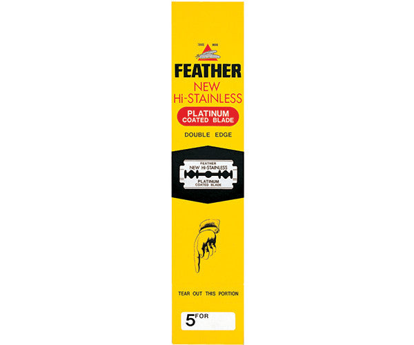 FEATHER RAZOR CO. BLADES DOUBLE-EDGE 100'S - Stubbles Australia