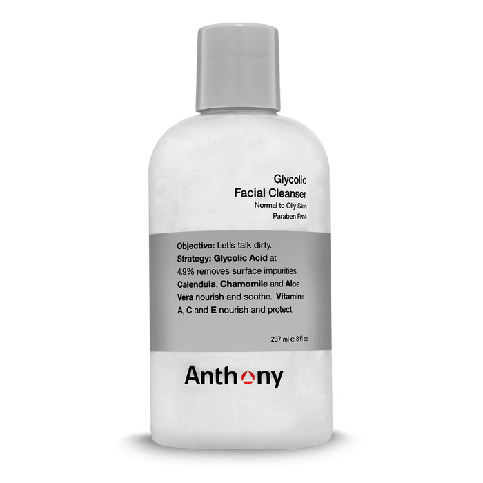 Anthony Glycolic Facial Cleanser 8oz - Stubbles Australia