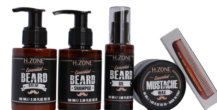 H.Zone Beard Pack with Baxter Beard Comb - Stubbles Australia