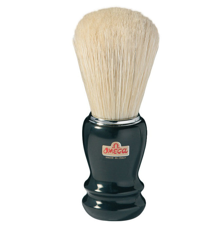 OMEGA SHAVE BRUSH DARK HANDLE - Stubbles Australia