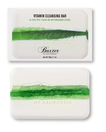 VITAMIN CLEANSING BAR - ITALIAN LIME & POMEGRANATE - Stubbles Australia