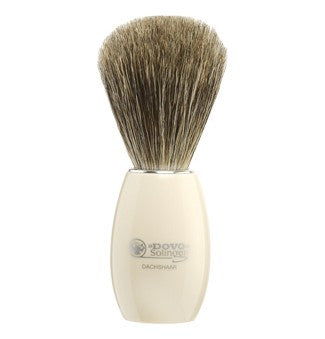 Dovo Ivory White Pure Badger Brush - Stubbles Australia