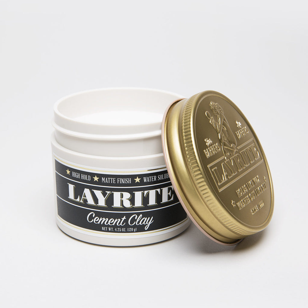 Cement Clay Pomade by Layrite - Stubbles Australia