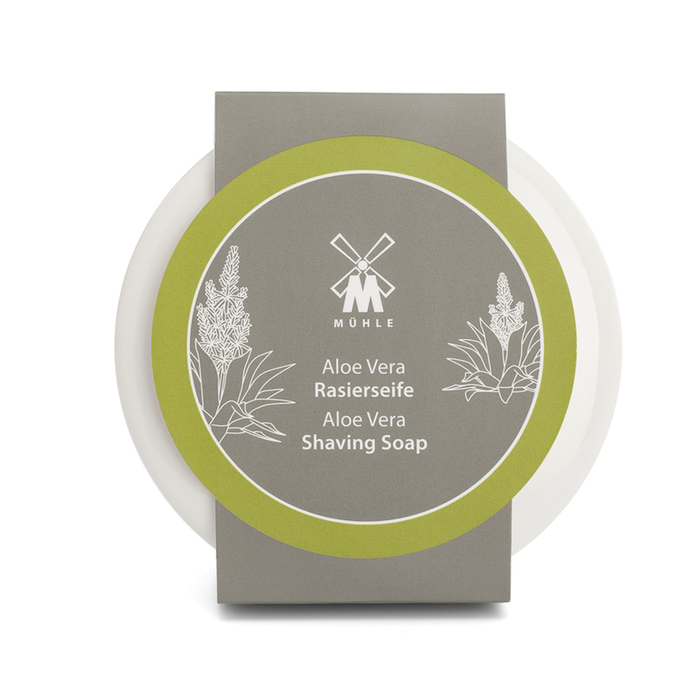 MÜHLE Shaving Soap in porcelain bowl - Aloe Vera - Stubbles Australia