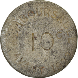 Monnaie, France, Chambre de Commerce, Bayonne, 10 Centimes, 1917, TTB, Iron