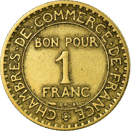 Monnaie, France, Chambre de commerce, Franc, 1924, Paris, TB+, Aluminum-Bronze