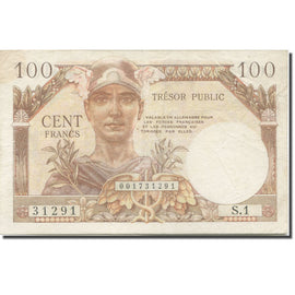France, 100 Francs, 1955-1963 Treasury, 1955, 1955, TB+, Fayette:VF32.01, KM:M9