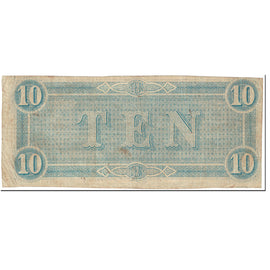 Billet, Confederate States of America, 10 Dollars, 1864, 1864-02-17, Richmond