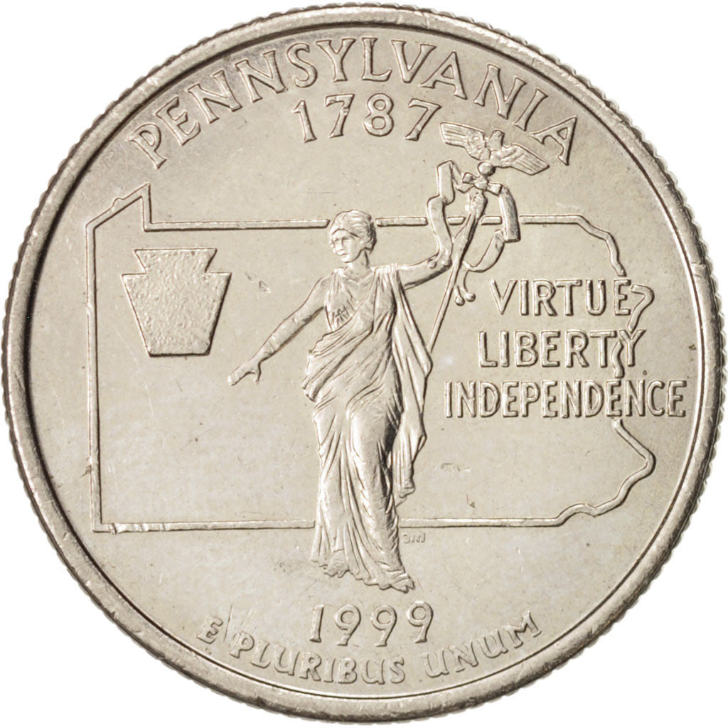 États-Unis, State Quarter, 1999, Denver, Pennsylvania, KM:294