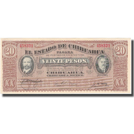 Billet, Mexico - Revolutionary, 20 Pesos, 1915, 1915-01-01, KM:S537a, SPL+