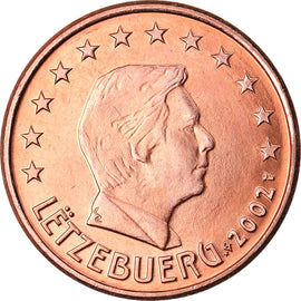 Luxembourg, 5 Euro Cent, 2002, TTB+, Copper Plated Steel, KM:77
