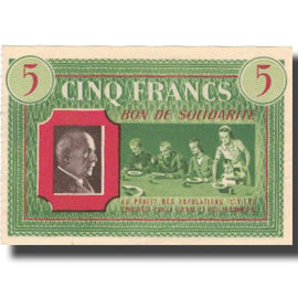 France, Comité National, 5 Francs, SUP