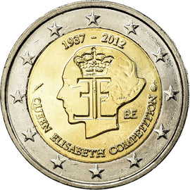 Belgique, 2 Euro, Queen Elisabeth, 2012, SUP, Bi-Metallic, KM:317