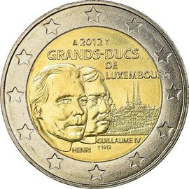 Luxembourg, 2 Euro, 100 th anniversary of the death of william IV, 2012, SPL