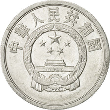 Monnaie, CHINA, PEOPLE'S REPUBLIC, 2 Fen, 1962, TTB, Aluminium, KM:2