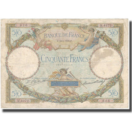 France, 50 Francs, Luc Olivier Merson, 1929, 1929-06-18, TB, Fayette:15.2