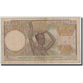 Billet, French West Africa, 100 Francs, 1936, 1936-11-17, KM:23, TB