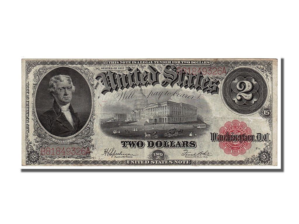 Etats-Unis, 2 Dollars type Legal Tender Note